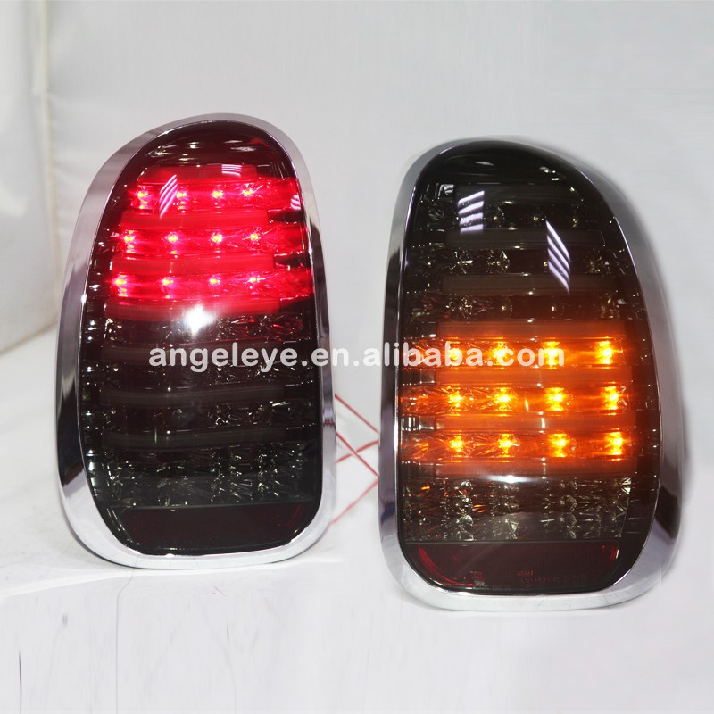 For BMW MINI COOPER COUNTRYMAN R60 LED Tail Lamp 2010-2013 Year Smoke Black Color LH carking grid pattern abs uv protected door handle cover for mini cooper countryman 4 pcs