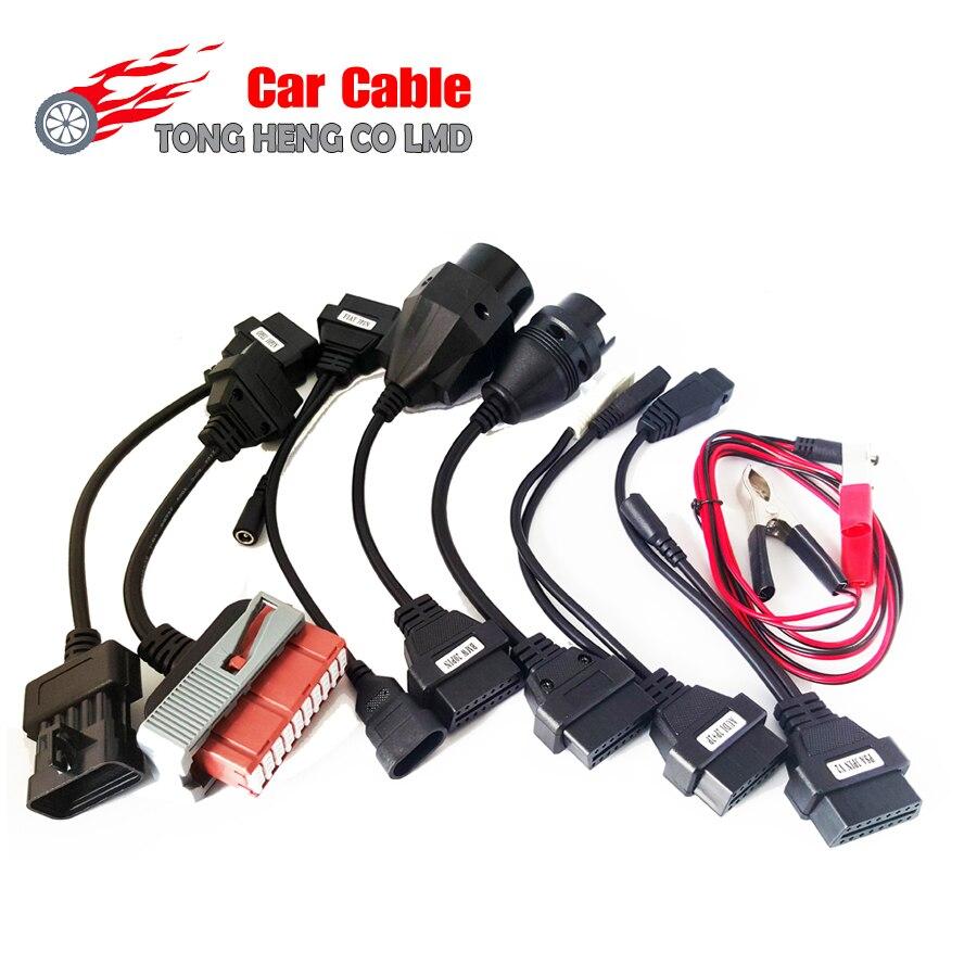 Prix pour Voiture Câble OBD OBD2 ensemble complet 8 câbles de voiture Outil de diagnostic Interface câble pour TCS CDP pro multidiag pro MVD Livraison Gratuite