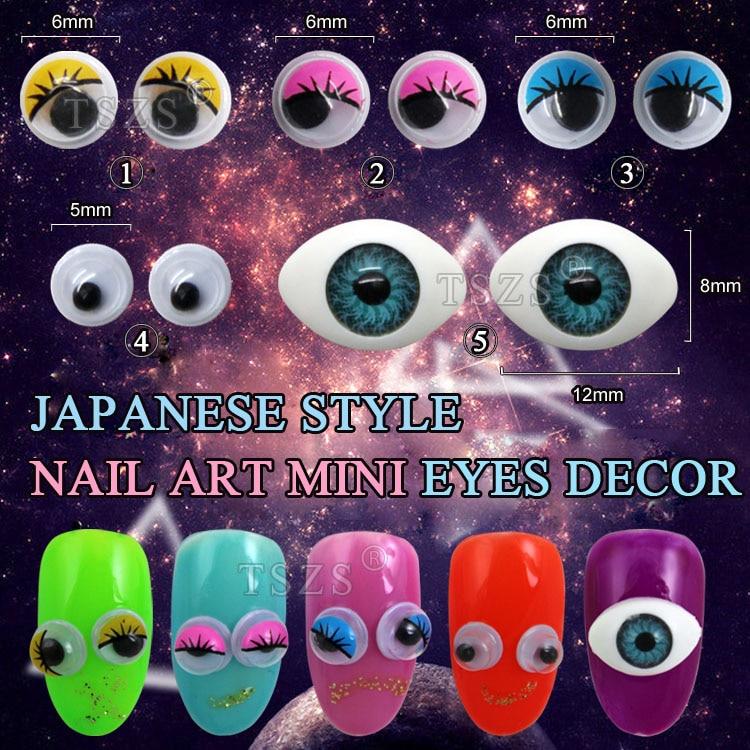 5bag/lot Cute 6mm Eye Eyeball Nail Art Decoration-in Rhinestones ...