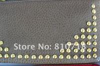бесплатная доставка / оптовая продажа акции на высокое качество / женская мода искусственная кожа металлические молнии зажимы для денег кард-холдер портмона