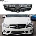 Mercedes classe C W204 amortecedor dianteiro 1-fin corrida grills grille para benz W204 C250 C300 C350 sedan 2007-2014