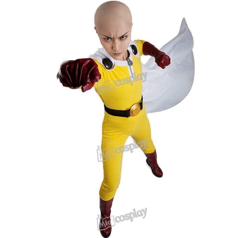 Anime One Punch Man Saitama Cosplay Costume Unisex Clothing