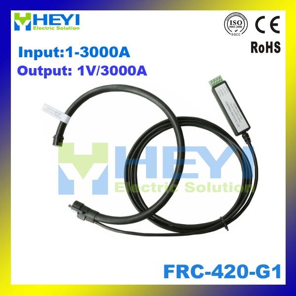 цена на Black Yellow Red flexible rogowski coil output: 1Vrms input: 1-3000A FRC-420-G1 rogowski CT