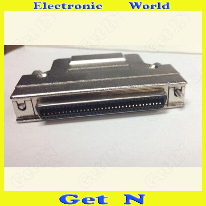 все цены на 1pcs SCSI Head CN68P Female Iron Shell SCSI CN68P Female Connector Welding Sharpnel Connector онлайн