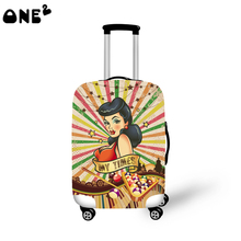 ONE2 sexy pattern modern stylish travel luggage cover good quality 22,24,26 inch production in China protective cover luggage