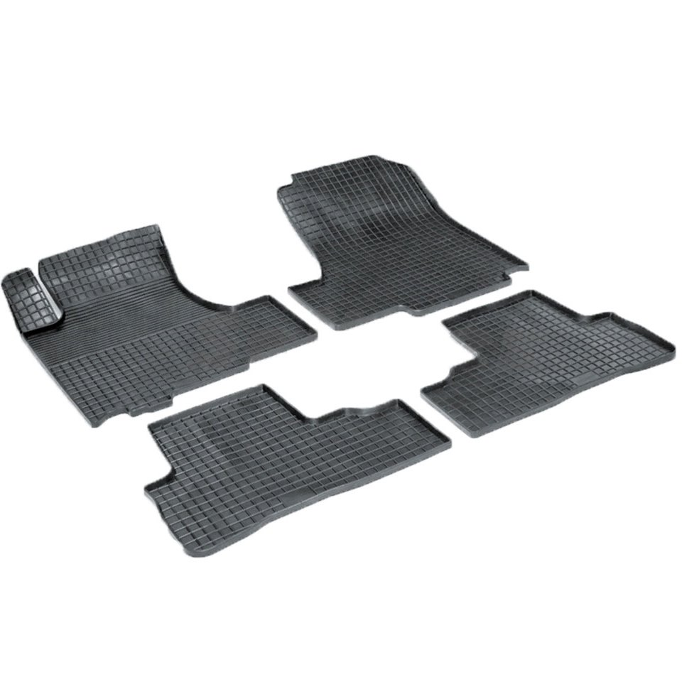 Rubber grid floor mats for Honda CRV III 2006 2007 2008 2009 2010 2011 2012 Seintex 00531 rubber grid floor mats for honda accord viii 2008 2009 2010 2011 2012 seintex 00758