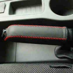 Przypadku dla starych Ford classic Focus hamulec ręczny pokrywa prawdziwej skóry DIY car styling akcesoria samochodowe dekoracji wnętrz