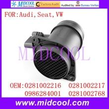 Новый Массового Расхода Воздуха Датчик использование OE-№ 0281002216, 0281002217, 0986284001, 0281002768 для Audi VW Seat
