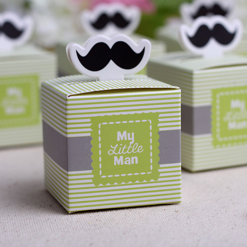 Aliexpress.com : Buy 100pcs Cute Mustache Birthday Boy Baby Shower Favors  Kids Party Decorations Baby Christening Baptism Gifts Souvenirs For Guests  From ...