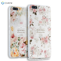 Super 3D Relief Printing Clear Soft TPU Case For Huawei Honor 6 Plus Phone Back Cover
