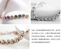 бесплатная доставка корейский австрийский браслеты ножные браслеты оптовая продажа полный горный хрусталь подарок для девочек