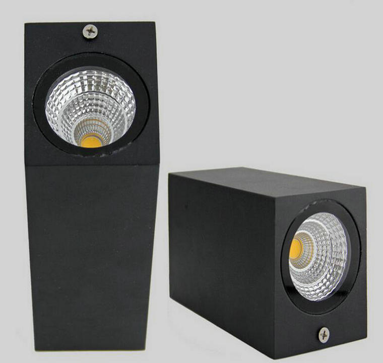 Led Lamps Led Indoor Wall Lamps Obliging 2*7w Cob Led Outdoor Wall Lamp Ip67 Mounted Outdoor Cube Led Wall Light,white/black Up And Down Wall Light In Pain