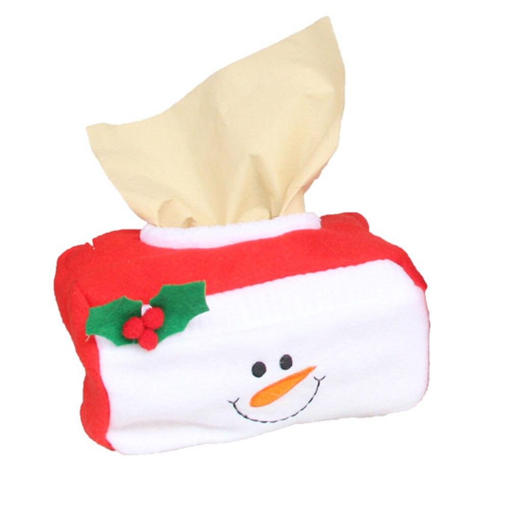 Cute santa claus towel christmas decor - New Christmas Santa Claus Belt Felt Tissue Box Case Holder Home Decoration Napkin Holder For Paper Towels
