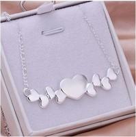 925 серебро ювелирные изделия комплект в форме сердца комплект серьги и ожерелье ювелирные изделия