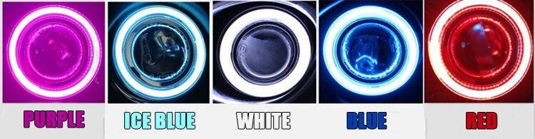 Светодиодные кольца «ангельские глазки» cob передняя линза проектора