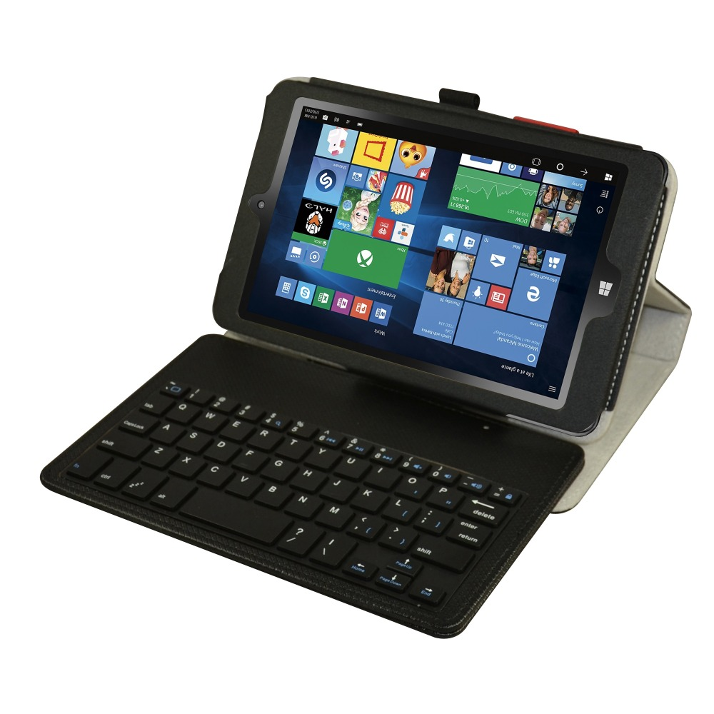 New Soft Removable Bluetooth Keyboard PU Leather Case Cover For 8 Insignia Flex NS-P08A7100 2016 Windows 10 Lte Tablet