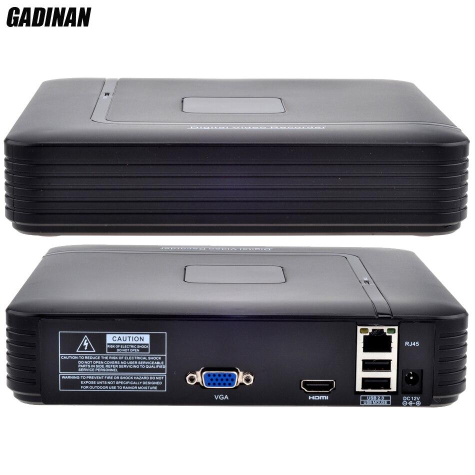 GADINAN Mini 8 Canaux NVR de Sécurité Autonome CCTV NVR 8CH 1080 P/12CH 960 P ONVIF 2.0 Détection de Mouvement CCTV NVR HDMI Sortie