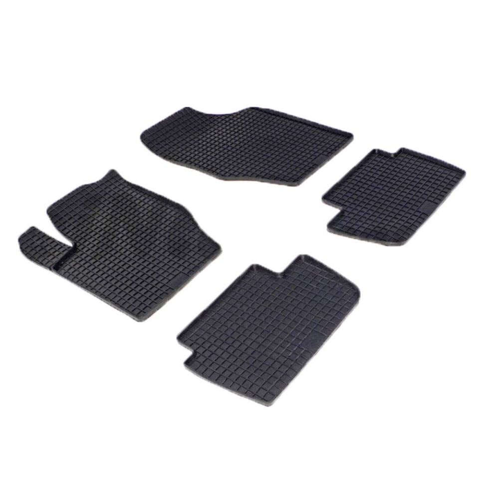 Rubber grid floor mats for Citroen C4 2004 2006 2007 2008 2009 2010 Seintex 00211