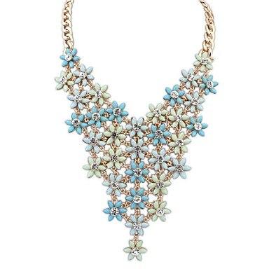 Femmes de l'ue et des états-unis mode mignon couches exquises fleurs magnifique déclaration de dossard collier ( plus de couleurs ) ( 1 pc