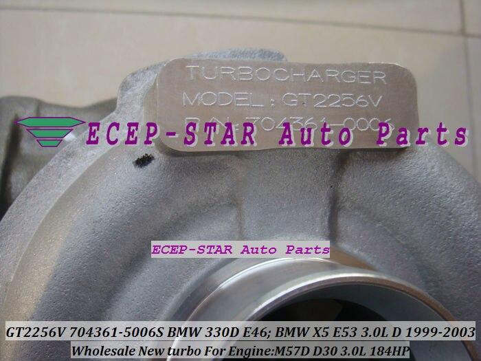 GT2256V 704361-5006S TURBINE Turbo Fit For bmw 330D E46 X5 3.0D E53,EngineM57D D30 3.0L 184HP 1999-2003 Turbocharger