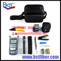 7 In 1 Fiber Optic FTTH Tool Kit with FC-6S Fiber Cleaver and Optical Power Meter 5km Visual Fault Locator Wire stripper