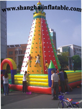 2016 giant inflatable climbing wall with good quality for entertainment