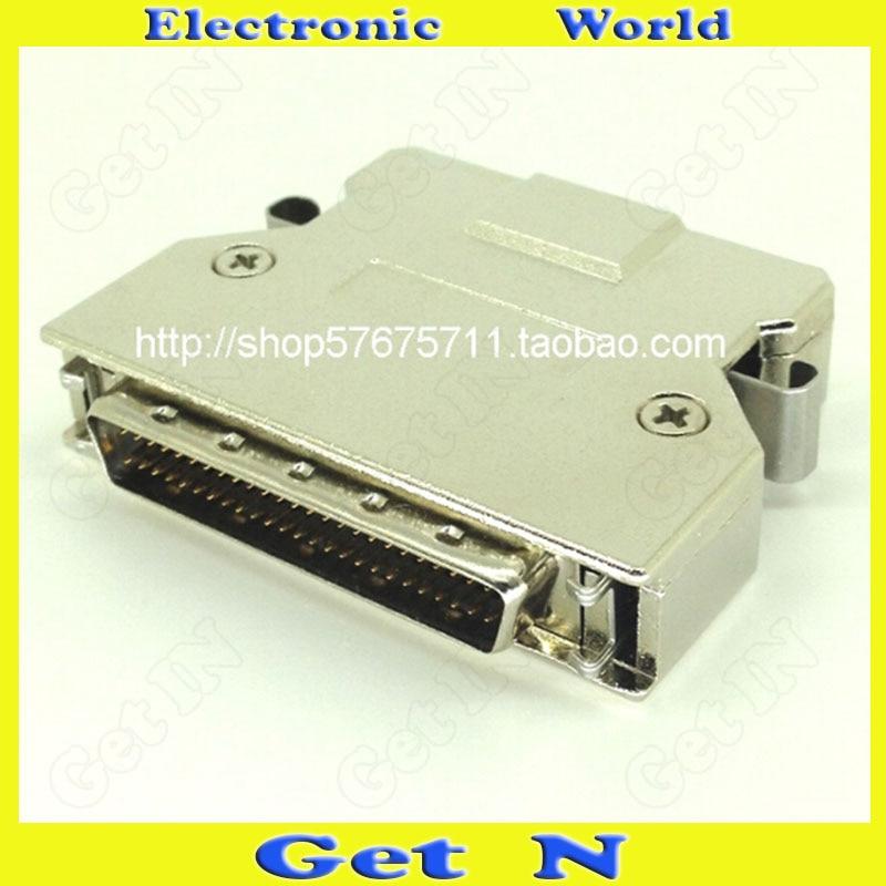 5pcs SCSI Connector SCSIHDB50P Male Plug Iron Shell Fabricated Adapter SCSI50 Sharpnel Male Head Socket
