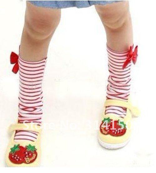 ; 20 шт./лот; B2W2; гольфы для маленьких девочек из чистого хлопка с бантом; носки принцессы в полоску