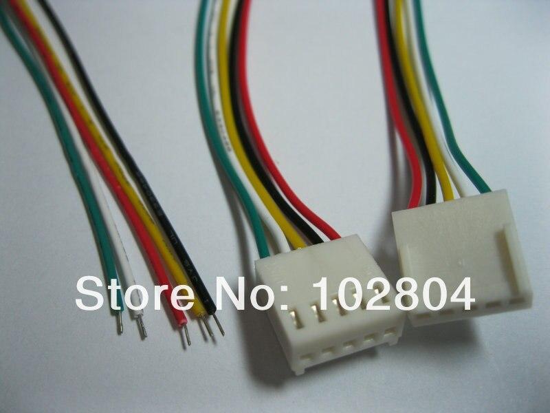 """20 piezas 2510 2.54mm conector hembra de paso 6Pin con Cable 26AWG de 300mm 12/"""" contactos"""