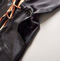 zb05012 модные черный цвет девушка комбинезон свободного покроя комбинезоны