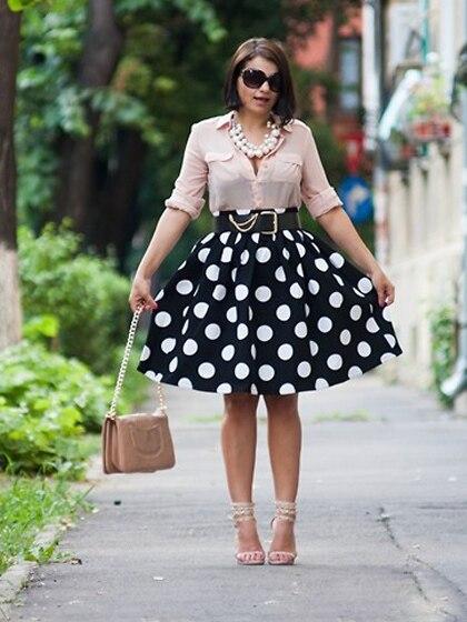 Модные юбки в горох