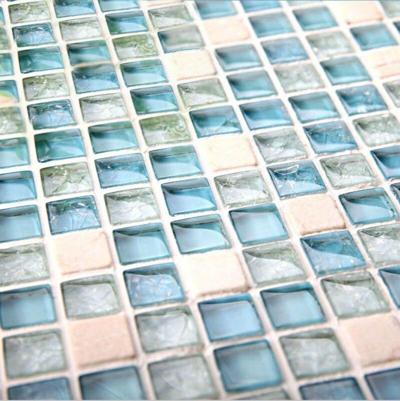 Piedra azulejos Backsplash cocina de diseño 1GS8BLW cristal y piedra ...