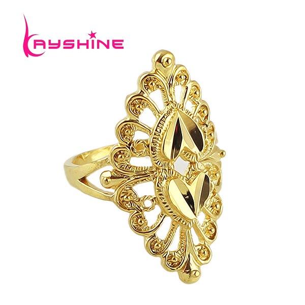 Kayshine New Gold Color Flower Ring Hot Sale Bijoux Women Aulic