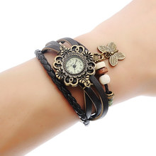 FUNIQUE New Fashion Women Bracelet Watches Genuine Leather Casual Watch Butterfly Quartz Wristwatches Rhinestone Clock Saat 2017