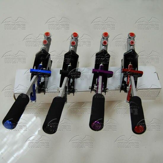 Universal Aluminum Master Cylinder 0.7 Inch Vertical Horizontal Racing Drift Rally Hydraulic Handbrake Hand Brake Purple Red Black Blue hydraulic hand brake (6)