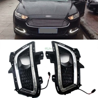 Car styling Fit 2013 2014 2015 2016 Ford Fusion High Power 16 LED Daytime Running Lights DRL Fog Lamps 2pcs