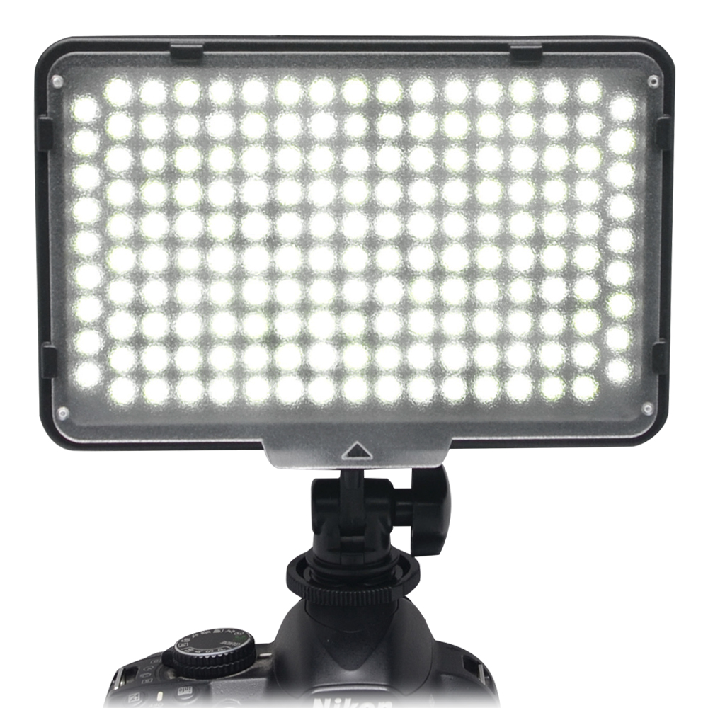 Mcoplus-168 Luz de video con cámara LED con batería para videocámara DV y Canon / Nikon / Pentax / Sony / Panasonic / Olympus VS CN-160