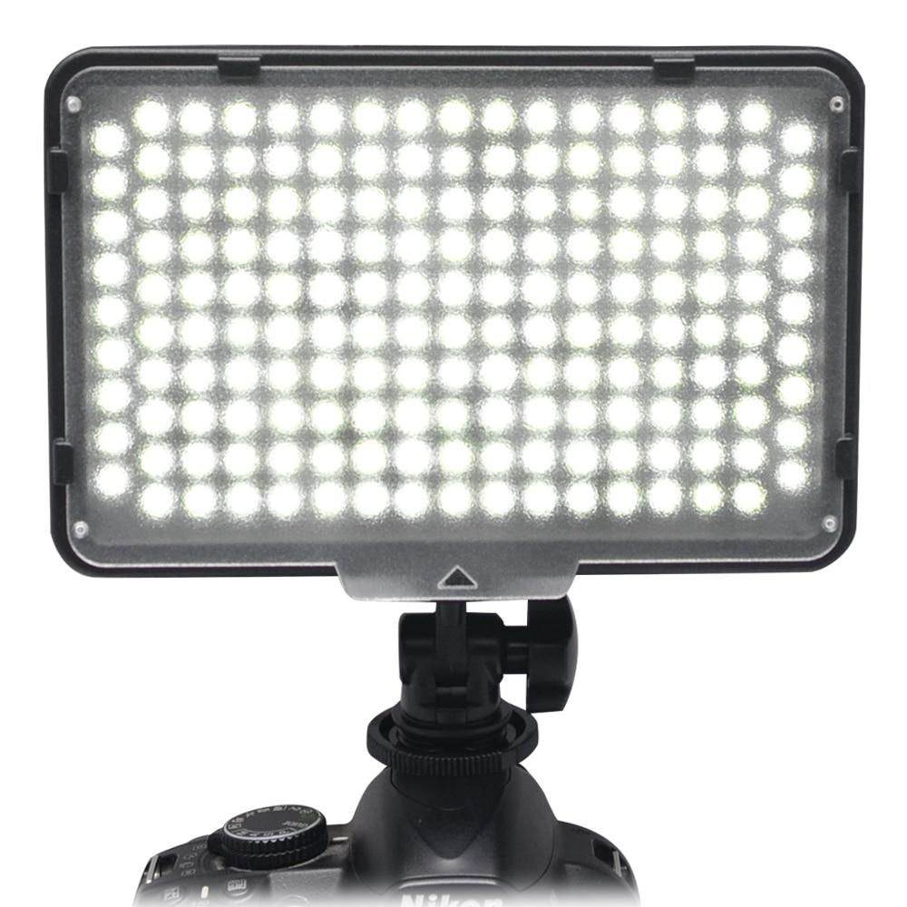 Mcoplus-168 LED-Videoleuchte mit Akku für DV-Camcorder und Canon / Nikon / Pentax / Sony / Panasonic / Olympus VS CN-160