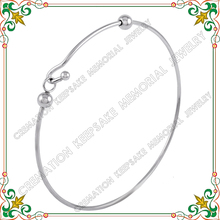 CJB0439 Wire bangles 316L stainless steel expandable bracelets retro gothic ball elegant jewelry gift