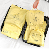 Polyester Travel Storage Bags 5pc Different Sizes Portable Shoes Cosmetic Clothes Luggage Category Tidy Organizer Wholesale