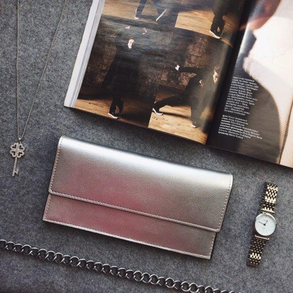 Стильный кошелёк-визитница из натуральной кожи с Алиэкспресс