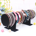 1 Pcs/lot Black Suede Show Jewelry Accessory Holder Bracelet Earring Watch Head Hoop Band Jewelry Frame Stand Display Rack