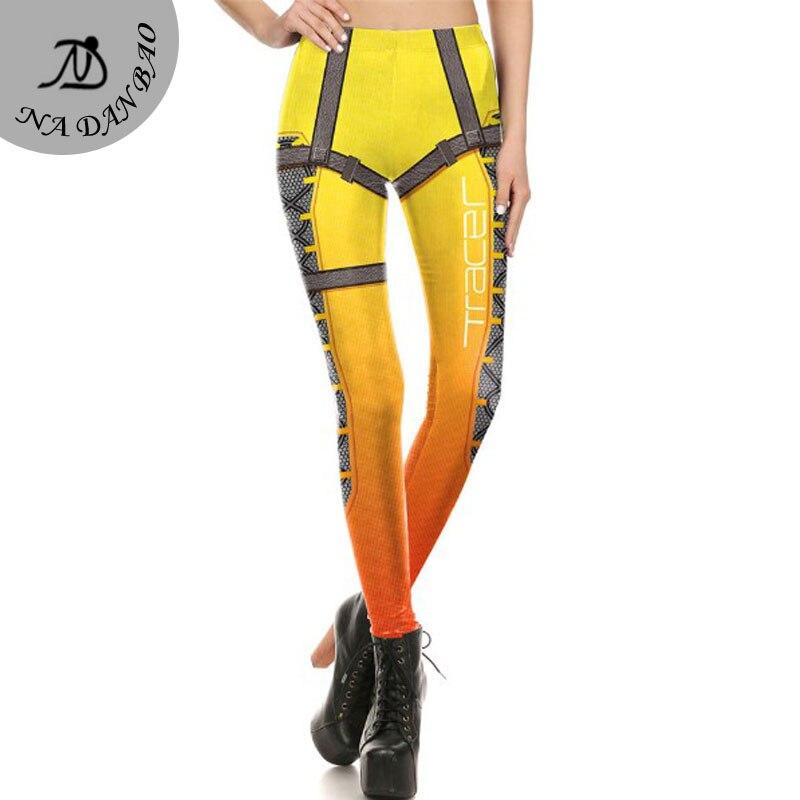 NADANBAO Brand New Women leggings OW Super HERO Tracer Leggins Printed legins Woman Clothings KDK1642