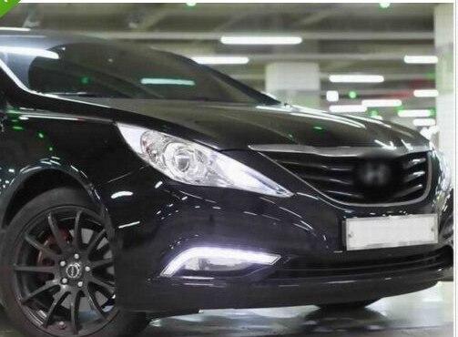 White LED Daytime Running / Fog Lights Lamps DRL for Hyundai Sonata 8 2012 2013