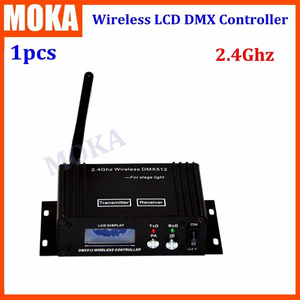 2.4G 3 pin LCD Dmx 512 Wireless Receiver/Transmitter Dmx Wireless Lighting Controller Kit Fast transfer the signal dhl free shipping wireless lcd dmx transmitter and receiver signal to wireless lights