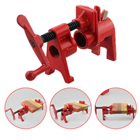 1pcs/Heavy Duty Pipe Clamp Woodworking German Style Rocker Type 2/4 Inch Pipe Clamp Fixture Carpenter Woodworking Tools