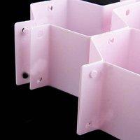 8 шт. многофункциональный сотовый стиль ящика раздела кабинет вагонкой - розовый