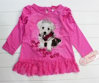 новое девушки осень одежда подходит детям мода молодых в форме сердца симпатичные собаки шаблон коробка lacely костюмы весна одежда для девочек