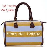 для женщин мода бренд дизайн барабан пункт корейский темно-полосатый стиль для свободного покроя ну вечеринку дешевые оптовая продажа сумки