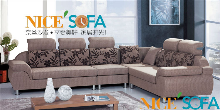 Modern Design Fabric Corner Sofa L Shape 892 1 In Living Room Sofas
